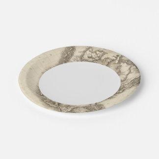 North America 47 Paper Plate