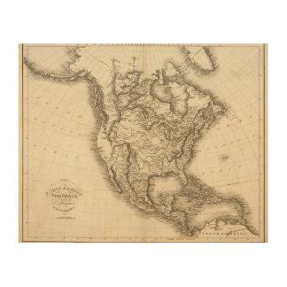 North America 47 Wood Wall Decor