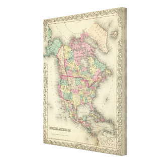 North America 48 Stretched Canvas Prints