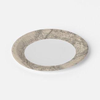 North America 4 Paper Plate