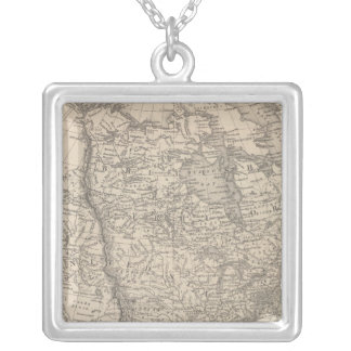 North America 4 Silver Plated Necklace
