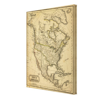 North America 4 Stretched Canvas Prints