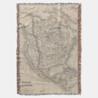 North America 4 Throw Blanket