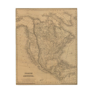 North America 4 Wood Wall Art