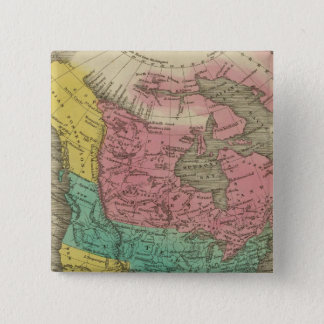 North America 5 15 Cm Square Badge