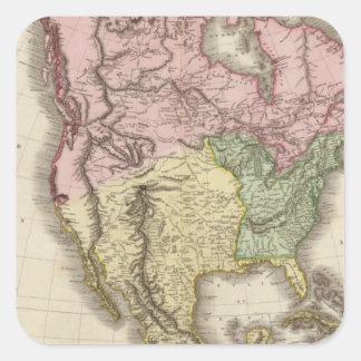 North America 5 Square Sticker