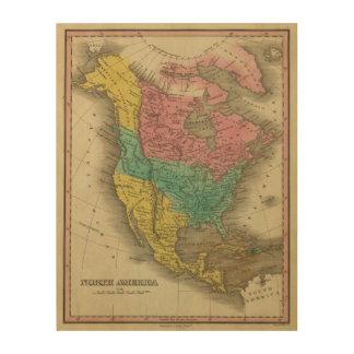 North America 5 Wood Print