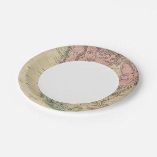 North America 6 Paper Plate