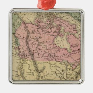 North America 6 Silver-Colored Square Decoration