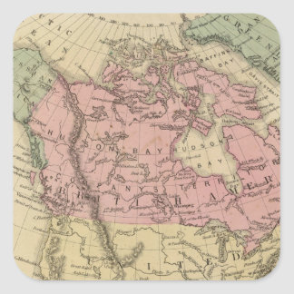 North America 6 Square Sticker