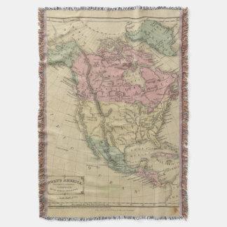 North America 6 Throw Blanket