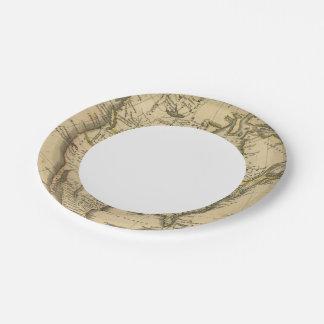 North America 7 Paper Plate