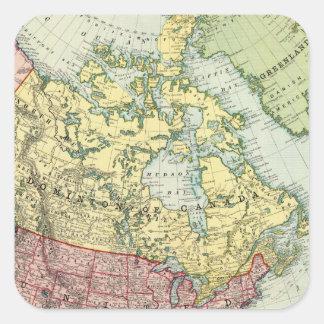 North America 7 Square Sticker