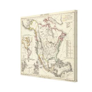 North America 8 Gallery Wrap Canvas