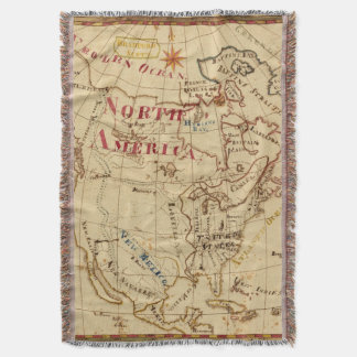 North America 8 Throw Blanket