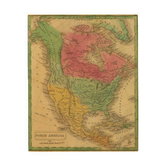 North America 9 2 Wood Wall Art