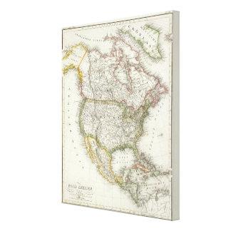 North America 9 Gallery Wrap Canvas
