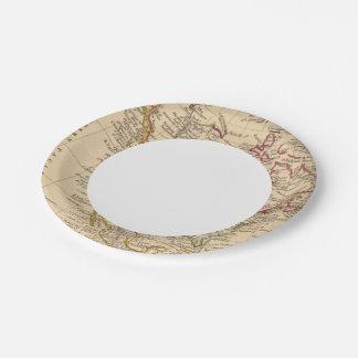 North America 9 Paper Plate