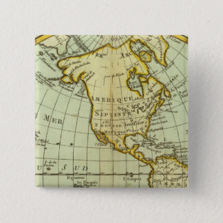 North America and South America 15 Cm Square Badge
