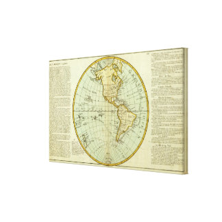 North America and South America Gallery Wrap Canvas