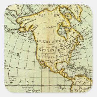 North America and South America Square Sticker