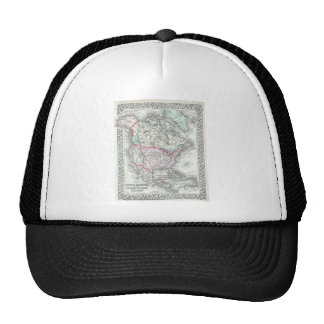 North America and the United States Antique Map Cap