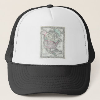 North America and the United States Antique Map Trucker Hat