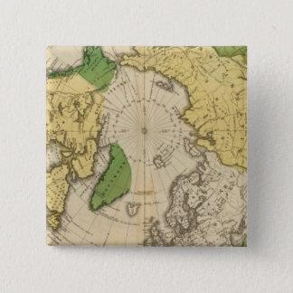 North America, Asia 15 Cm Square Badge