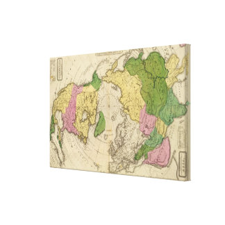 North America Asia Stretched Canvas Print