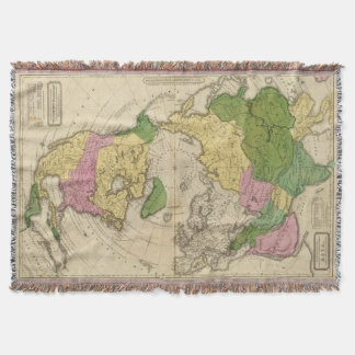 North America, Asia Throw Blanket