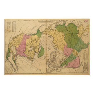 North America, Asia Wood Wall Decor