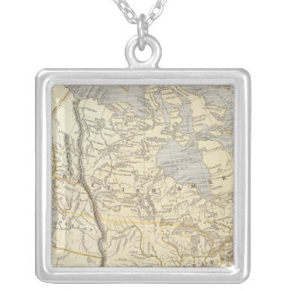 North America Atlas Map 2 Silver Plated Necklace