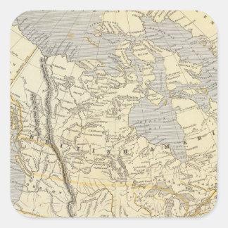 North America Atlas Map 2 Square Sticker