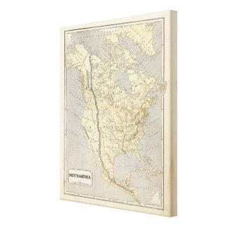 North America Atlas Map Canvas Prints