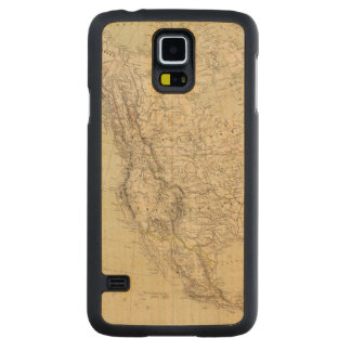 North America Atlas Map showing Indian tribes Carved Maple Galaxy S5 Case