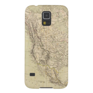 North America Atlas Map showing Indian tribes Galaxy S5 Cover