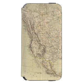 North America Atlas Map showing Indian tribes Incipio Watson™ iPhone 6 Wallet Case