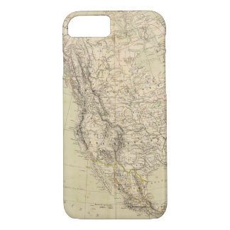 North America Atlas Map showing Indian tribes iPhone 7 Case