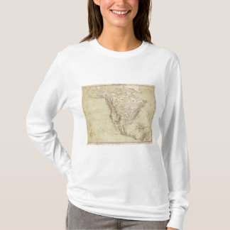 North America Atlas Map showing Indian tribes T-Shirt