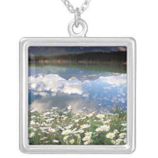 North America, Canada, Alberta, Banff National 2 Silver Plated Necklace