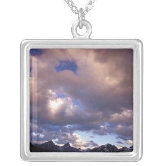 North America, Canada, Alberta, Jasper 5 Silver Plated Necklace