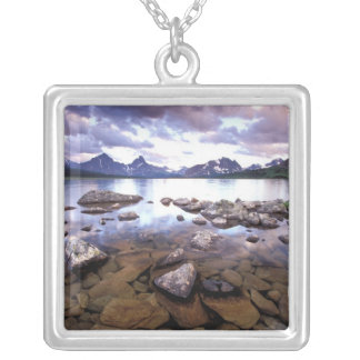 North America, Canada, Alberta, Jasper National Silver Plated Necklace