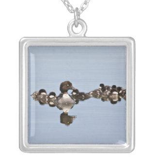 North America, Canada, British Columbia, Lac Square Pendant Necklace