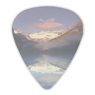 North America, Canada, Lake Louise morning Acetal Guitar Pick