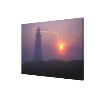 North America, Canada, Newfoundland, Cape Spear, Stretched Canvas Print