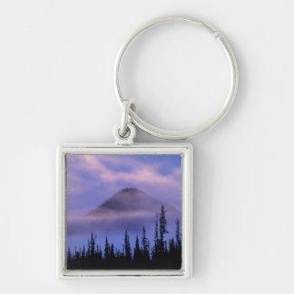 North America, Canada, Northwest Territories, Silver-Colored Square Key Ring