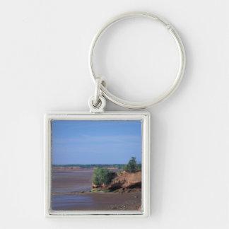 North America, Canada, Nova Scotia, Economy, Bay Silver-Colored Square Key Ring