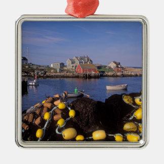 North America, Canada, Nova Scotia, Peggy's Silver-Colored Square Decoration