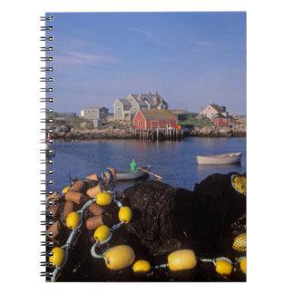 North America, Canada, Nova Scotia, Peggy's Spiral Notebooks