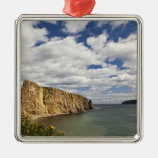 North America, Canada, Quebec, Gaspe Bay, Perce Silver-Colored Square Decoration